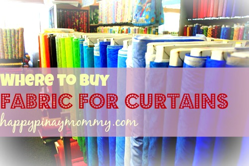 Where to buy fabric for curtains in the philippines for Where can i buy curtains online